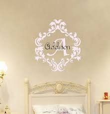 iron monogram wall decor lovely baby girl name wall decal damask monogram decal nursery monogram