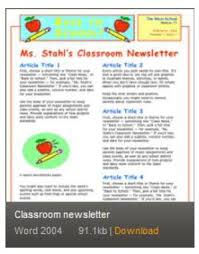 Where Can I Find Free Newsletter Templates For Print And Web