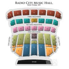 Radio City Music Hall New York Seating Chart Radio City Music Hall A Seating Guide For The New York