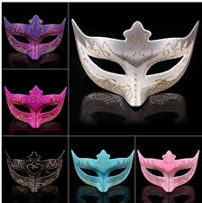 Plastic Masks To Decorate Plastic Plating Masquerade Masks Venetian Dance Party Half Face 22