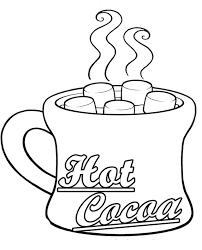 Hot Cocoa Mug Coloring Page Manet