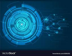 Abstract Futuristic Circuit Board Background Vector Image