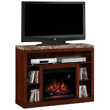 classic flame adams electric fireplace insert home theater mantel in empire cherry w engineered marble top