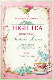 tea party invitations free template high tea party invitation template free templates mty2njk