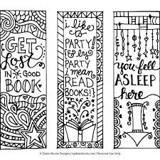 Bookmark Coloring Pages Free Printable Coloring Page Bookmarks Dawn Nicole Designs