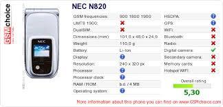 NEC N820 :: GSMchoice.com