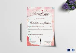 Christian Marriage Certificate Design Template In Psd Word