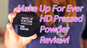 make up for ever hd pressed powder review ings