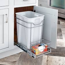 Image Kitchen Closetmaid Premium 24quart Cabinet Pullout Trash Bin Overstockcom Shop Closetmaid Premium 24quart Cabinet Pullout Trash Bin Free