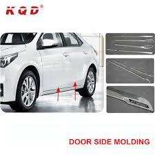 2018 auto chrome car decoration accessories body kit cladding car door moulding side moulding trims for