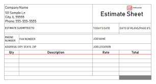 Work Estimate Templates Free Estimate Templates For Excel Cost Work Job