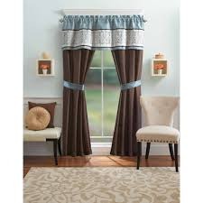 Better Homes And Gardens Blue Ombre Scroll 5 Piece Window Curtains