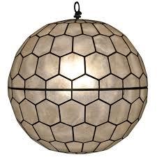 ball chandelier. sphere capiz shell ball chandelier by feldman lighting 1 r