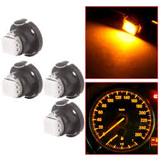 Yellow Light On Speedometer Amazon Com Scitoo Scitoo 4pcs T5 74 Light Bulbs Instrument