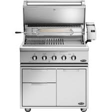 dcs heritage 36 inch freestanding natural gas grill with infrared burner kit griddle on dcs cad cart bh1 36rgi n bbq guys