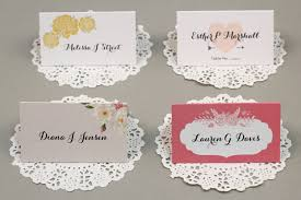 Reception Place Cards And Escort Cards