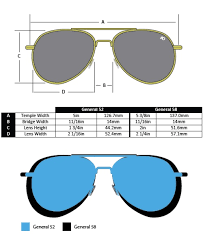 Glasses Lens Size Chart The General Sunglasses Ao Frames Only