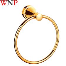 Золотое настенное <b>кольцо для полотенец</b>, латунный держатель ...