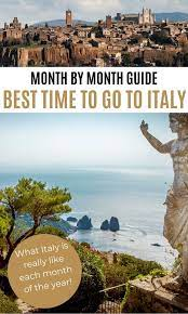 the best time to visit italy month by