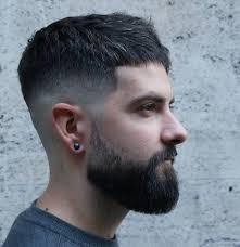 short textured crop beard