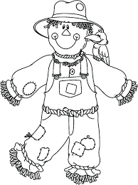free printable scarecrow coloring pages for kids picturesque and with