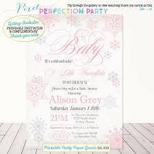 Snowflake Baby Shower Invitations Winter Baby Shower Invitation Baby Its Cold Outside Baby Shower