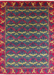 oriental arts and crafts morris design area rug 9x12 p5077 contemporary area rugs by manhattan rugs