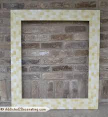 Bathroom Makeover Day 14 DIY Mosaic Wood Tile Mirror Frame Finished