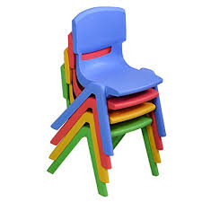 kids stackable chairs. Perfect Chairs Amazoncom Costzon Kids Chairs Stackable Plastic Learn And Play Chair For  School Home Room Colorful Chairs Toddlers Boys Girls Kitchen U0026  In