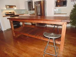 Kitchen Table Island Farmhouse Kitchen Table Island With Armless Stools And Bottom