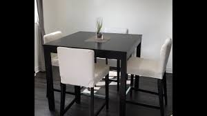 bjursta bar table brown black assembly set up ikea