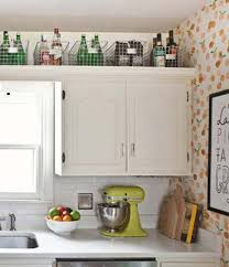 decorating ideas for above kitchen cabinets. 1. Put Some Baskets Up There And Stash Your Stuff In Them. Decorating Ideas For Above Kitchen Cabinets