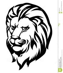 lion face black and white. royalty-free vector. download lion head black and white. face white