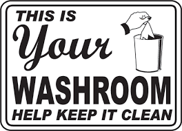 Your Bathroom Keep It Clean Sign D5689 Bathroom Etiquette Signs By Printable Keep Bathroom Clean Signs