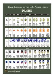Military Insignia Chart Rank Insignia Of The U S Armed Forces Pdf Free 2 Pages