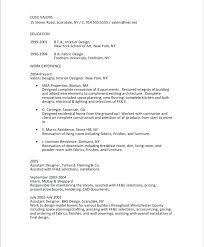 Sample Kitchen Designer Resume Sample Interior Design Resume Objective Kitchen Designer Samples