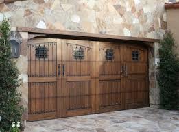 rustic garage doorsWood Garage Doors  Carriage House Collection  Clear Cedar  Door