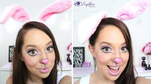 simple cute easter bunny makeup tutorial by eolizemakeup you