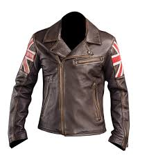 leather biker jacket best er café racer style motorcycle jacket uk flag men s vintage style leather jacket