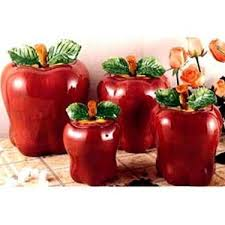 apple kitchen decor. big apple 4 pc canister set kitchen decor r