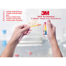 3m 6 in 1 water test kit simple to use diy in home water quality test kit