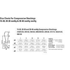 Compression Socks Chart Juzo Basic Knee High Compression Stockings