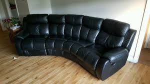 dfs daytona 4 seater curved leather recliner sofa
