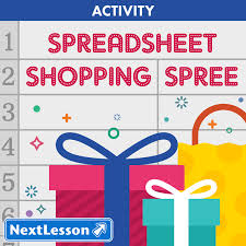 Shopping Spreadsheet Spreadsheet Shopping Spree Nextlesson