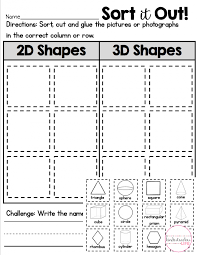 Kindergarten 3d Shapes Worksheets Identifying For Free Picture 791 ...