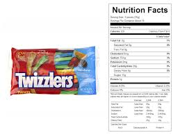 twizzlers rainbow twists nutritional facts