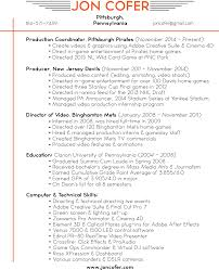 Video Production Resume Samples Video Production Resume Cover Letter 16