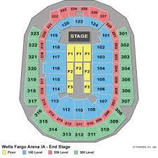 wells fargo arena seating chart wells fargo seating chart