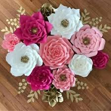 Flower Made In Paper Details About Pre Made Rose Paper Flowers Wedding Party Backdrop Wall Wedding Decor 3d Diy