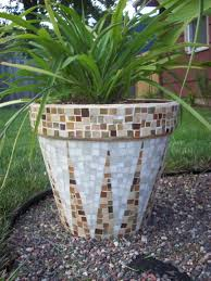 ... mosaic outdoor planters flower pot tracey cartledge artist how to daisy  large garden pots home decor ...